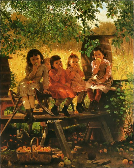 The Cider Mill - 1880 - John George Brown (american painter)