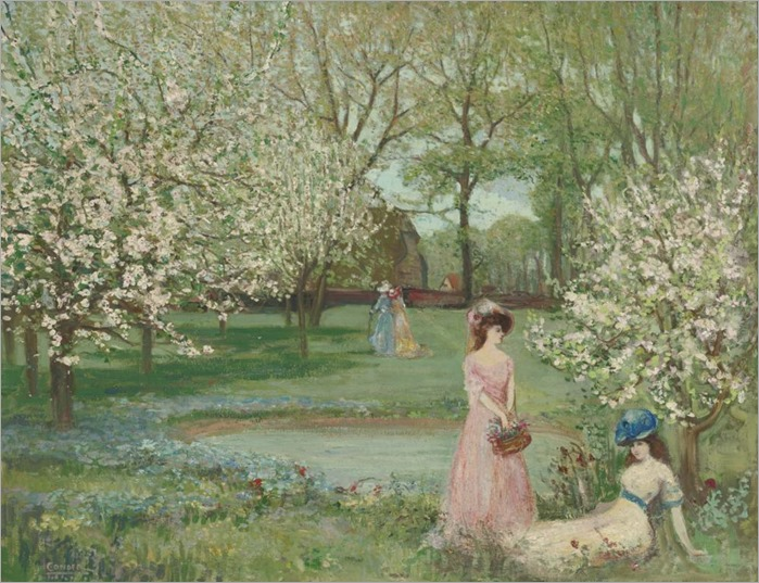 THE HOWE IN SPRING - CHARLES CONDER (british, 1868-1909)_1001x768