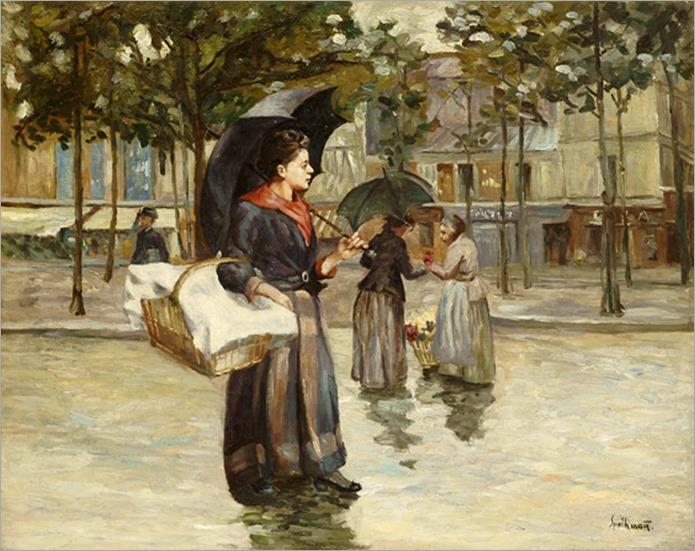 The Laundress, Albert Spethmann. Germany (1894 - 1986)