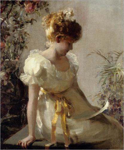 The Love Letter. Jessie Elliot Gorst (British, fl. 1889-1899)