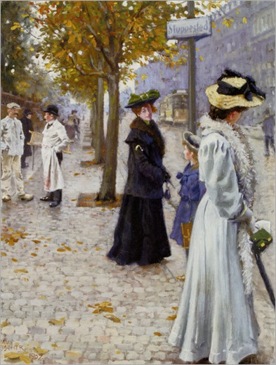 Venter Pa Sporvognen (1907) by Paul-Gustave Fischer (1860-1934)