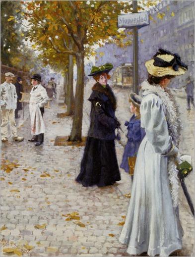 Venter Pa Sporvognen (1907) by Paul-Gustave Fischer (1860-1934)