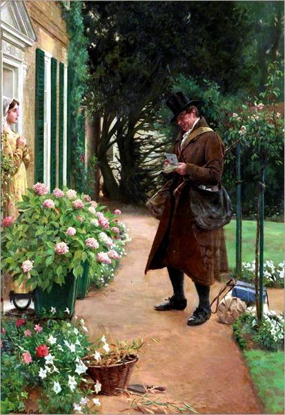 Walter Dendy Sadler (1854-1923) - The Village Postman