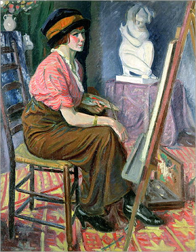 Woman Painter in front of her Easel, Jean Puy