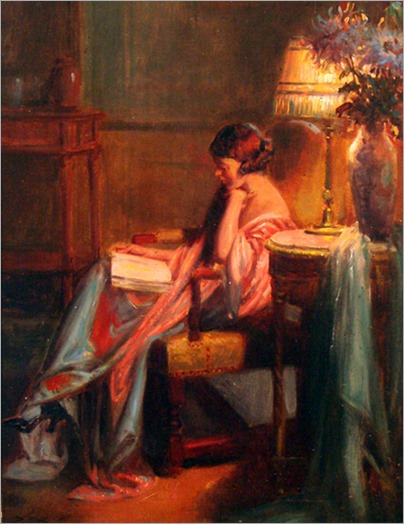 woman-reading-by-Delphin Enjolras
