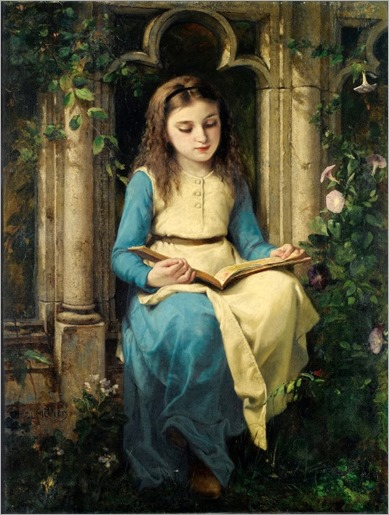 Young Girl Reading. Charles Louis Lucien Muller (1815 – 1892), French painter