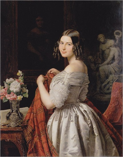 Young lady at her toilette (1840). Ferdinand Georg Waldmüller (Austrian, 1793–1865)