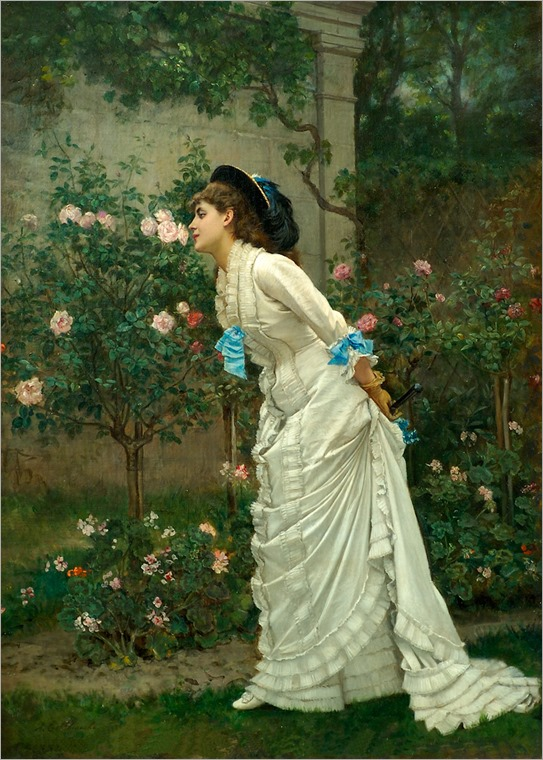 002_AUGUSTE_TOULMOUCHE_A_Girl_and_Roses_1879