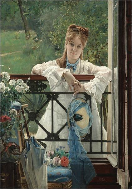 5.Alfred Stevens (Belgian 1823-1906)