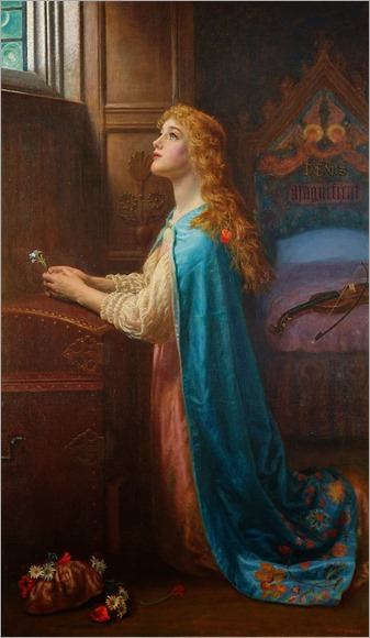 Arthur Hughes - Forget Me Not