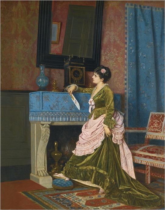 Auguste Toulmouche (French, 1829-1890) La Lettre D'Amour. 1873