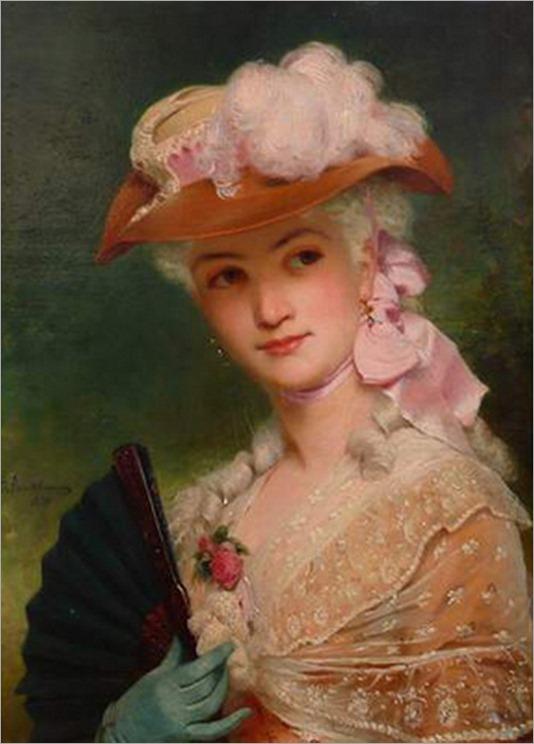 Charles Edouard Boutibonne - elegant lady