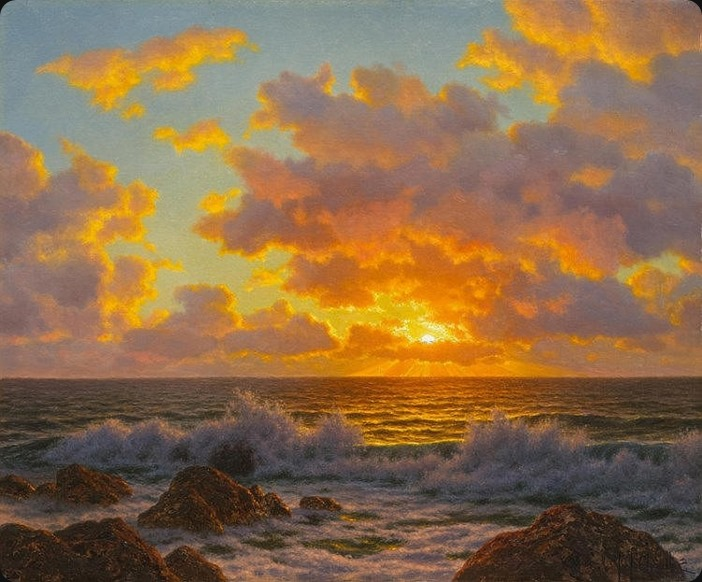 CHOULTSÉ, IVAN FEDOROVIC(St. Petersburg 1874 - 1939 Nice)Sunset over the Adriatic.