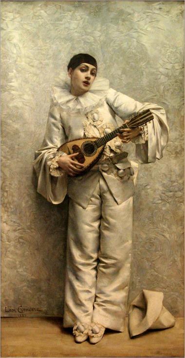 Comerre-Pierrot_jouant_de_la_mandoline-Musée_de_Gap