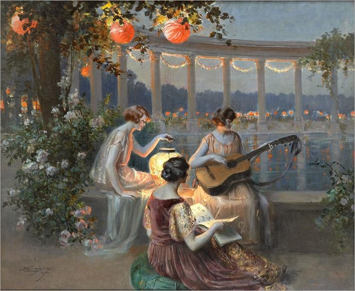 Delphin-Enjolras_Les-musiciennes-sur-la-terrasse