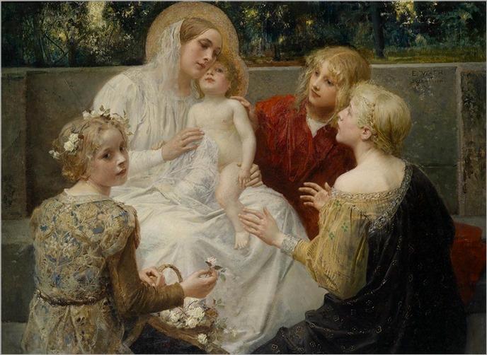 Eduard Veith (1856-1925) Madonna mit Jesus