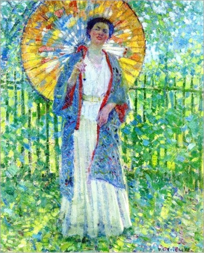 Frederick Frieseke (1874-1939) The Japanese Parasol