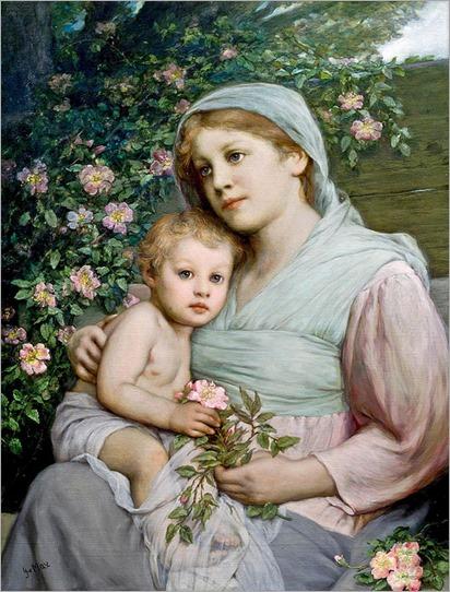 Gabriel von Max (1840 -1915), Rosenmadonna