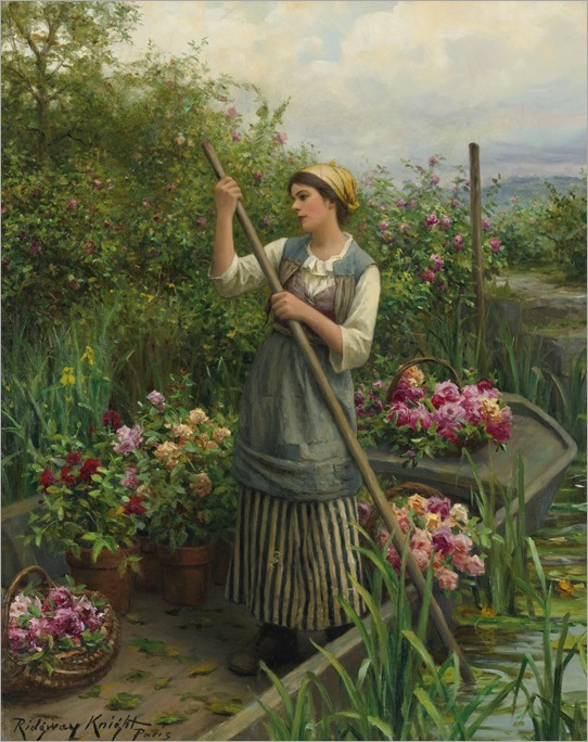 GATHERING FLOWERS ALONG THE RIVER_Daniel R Knight