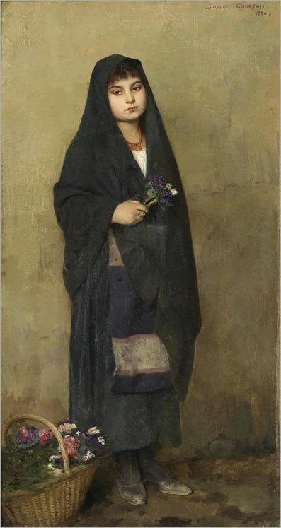 Gustave Courtois (1852-1923) das blumenmadchen