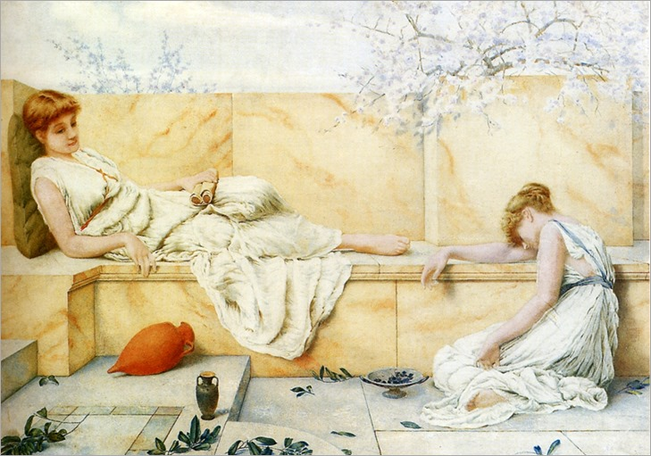 Henry Ryland - Two Classical Figures Reclining