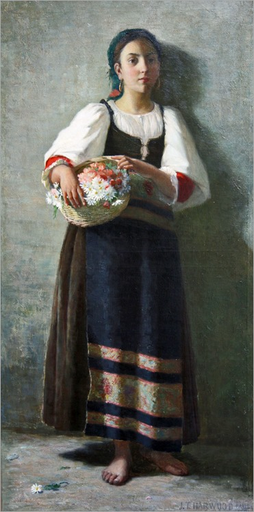 James Taylor Harwood - Italian Flower Girl 1890