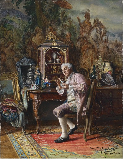 Johann Hamza 1850-1927 The Art Lover