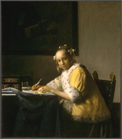 Johannes Vermeer - A Lady Writing_c.1665