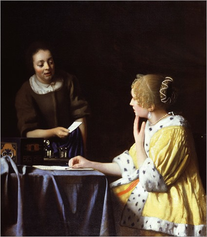 Johannes Vermeer -Lady with Her Maidservant Holding a Letter_1667-8