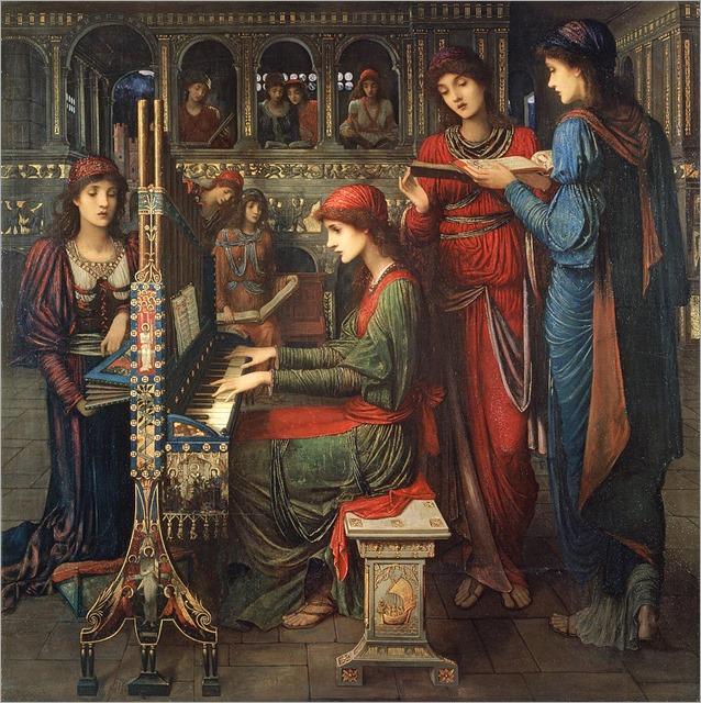 John Melhuish Strudwick - Saint Cecilia 1897