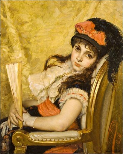 Leon-Herbo (1850-1907)_Portrait-de-jeune-fille