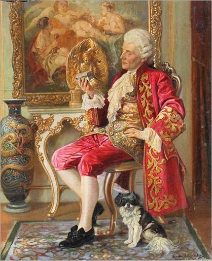 LUDWIG AUGUSTIN (1882-1960) Le Collectionneur