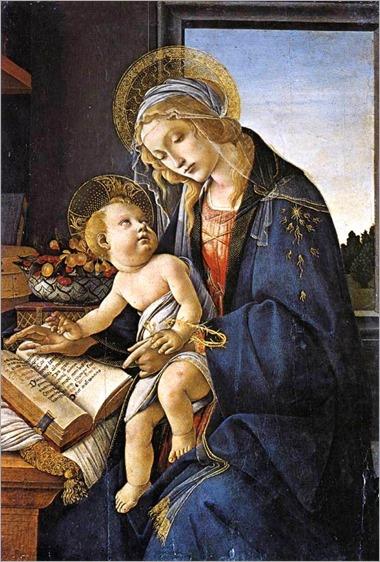 Madonna del Libro - Sandro Botticelli (b. 1445, Firenze, d. 1510, Firenze)