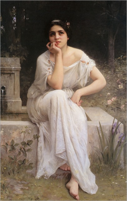 Meditation by Charles Amable Lenoir