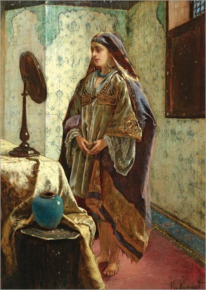 ODALISQUE IN HER BOUDOIR_Rudolf Ernst