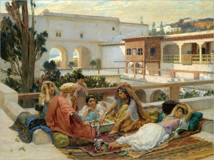 on the terrace-Frederick Arthur Bridgman