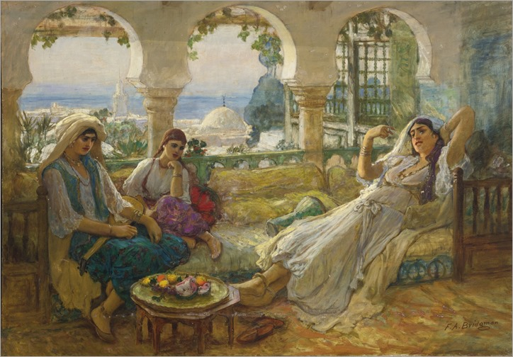 on the terrace_Frederick Arthur Bridgman