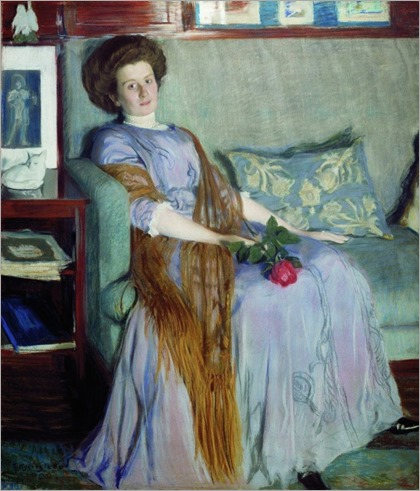 Portrait of R.I. Notgaft - 1909- Boris Kustodiev (russian painter)