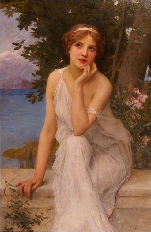 REFLECTIVE THOUGHTS- Charles Amable Lenoir (french, 1870-1926)
