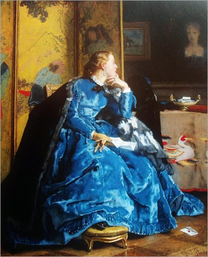 The Duchess (formerly known as The Blue Dress), c.1861. Alfred Stevens (Belgian, 1823-1906)