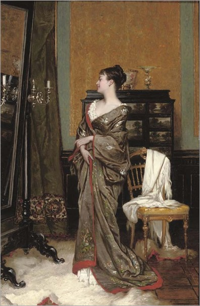 the kimono-Frans Verhas (Belgian, 1827-1897)