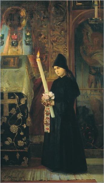 The Monastery - 1891- Nikolai Aleksandrovich Bruni (russian painter)