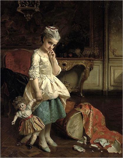 un petit faux pas_Henri Guillaume Schlesinger (french, 1814-1893)