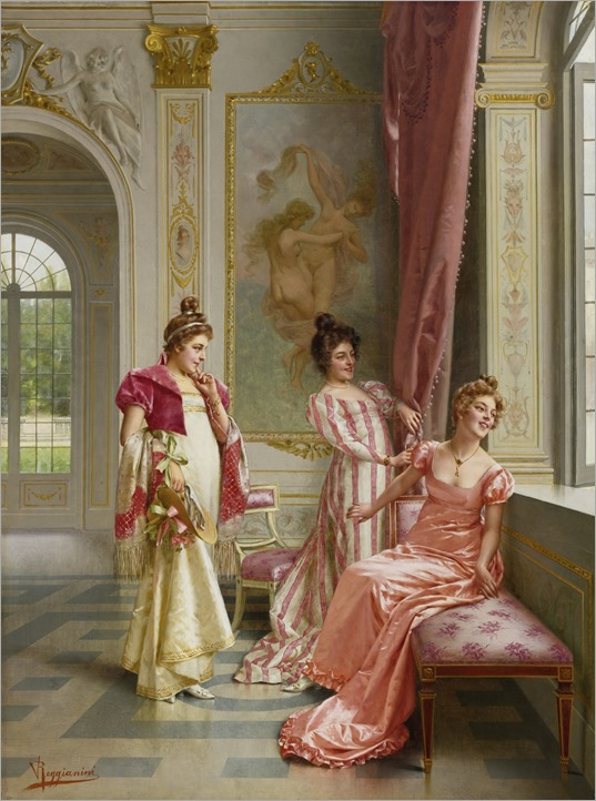 Vittorio Reggianini (1858 - 1938) - The coquette's adventure