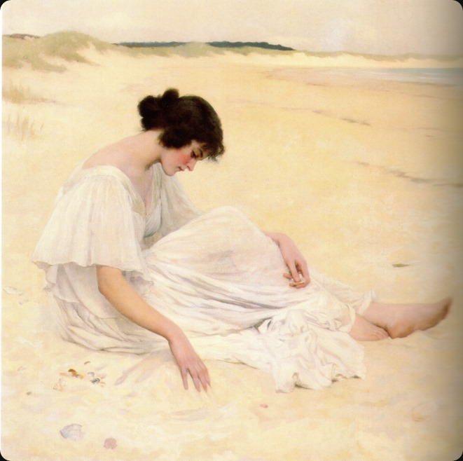 William Henry Margetson (british, 1861-1940)-castles of sand -1898