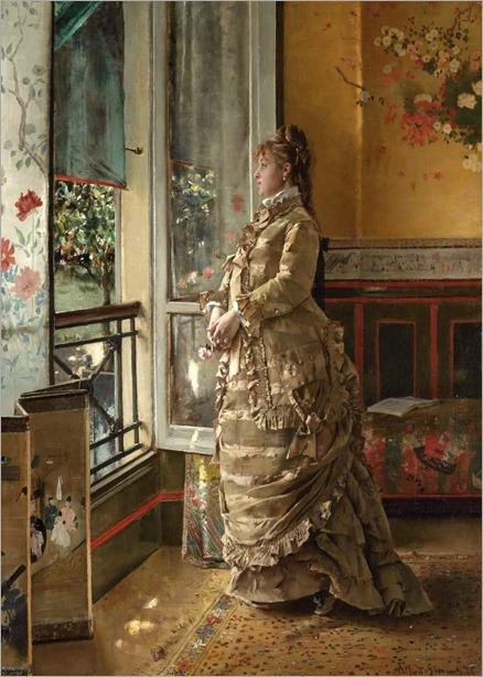 3.Alfred Stevens (Belgian 1823-1906)-melancholie