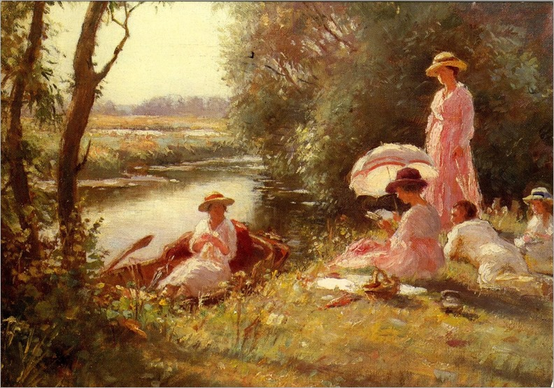 Blacklock William Kay - Picnic on the  Ouse, 1879