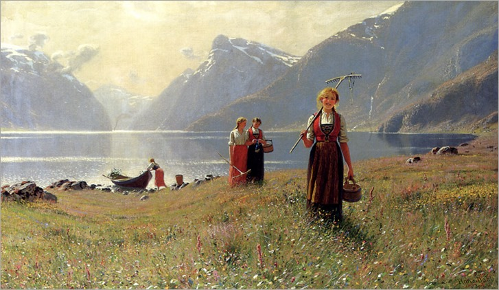 Dahl, Hans 1849 - 1937-A Summer Day