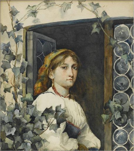 Eastman Johnson - Peasant Girl in Window