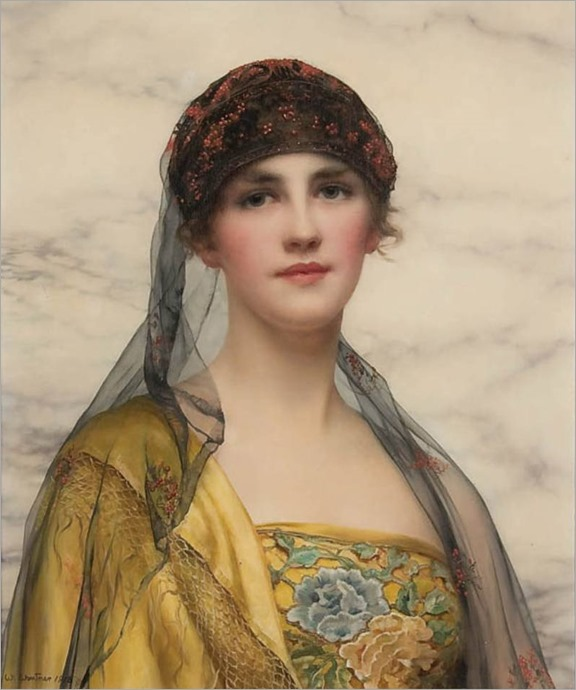 portrait of a beauty_W C Wontner